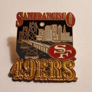 San Francisco 49ners Lapel Pin NFL Souvenir 1995
